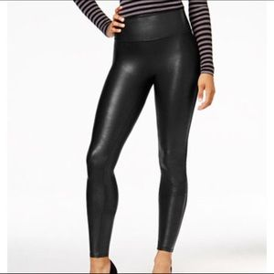 Stella Luce Faux Leather Legging Tummy Control NEW